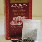 SD Bell's Belfast tea string, tag & envelope tea bags