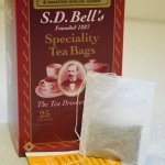 Chamomile string, tag & envelope tea bags